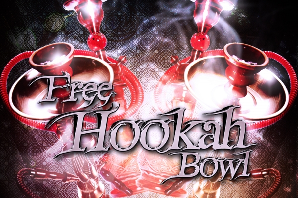 First Hookah Bowl is On Us - Present before entering the venue.